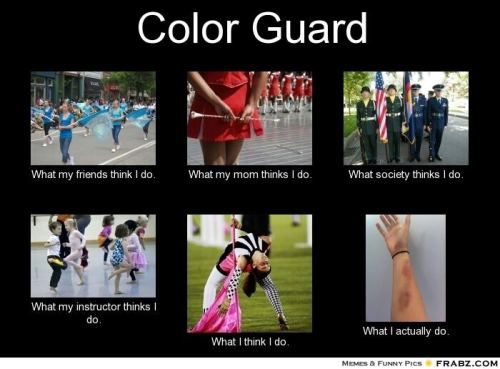 some may not know, but before i got injured i was in colorguard :3 this is all so true T.T