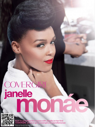 26 year-old Grammy-winning R&B star  Janelle Monae for Covergirl.