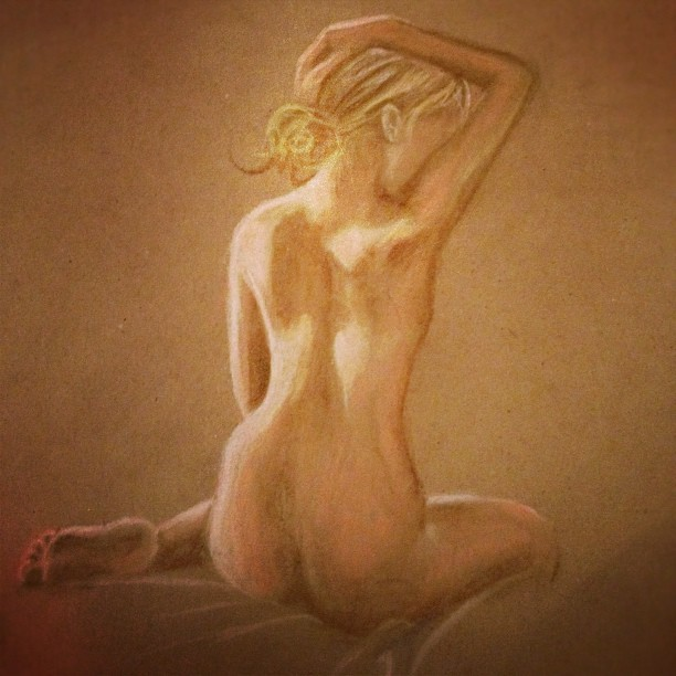 Live model figure drawing (Taken with Instagram at Art Works)