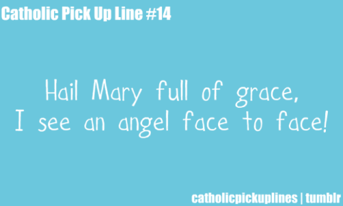 Hail May full of grace, I see an angel face to face!
