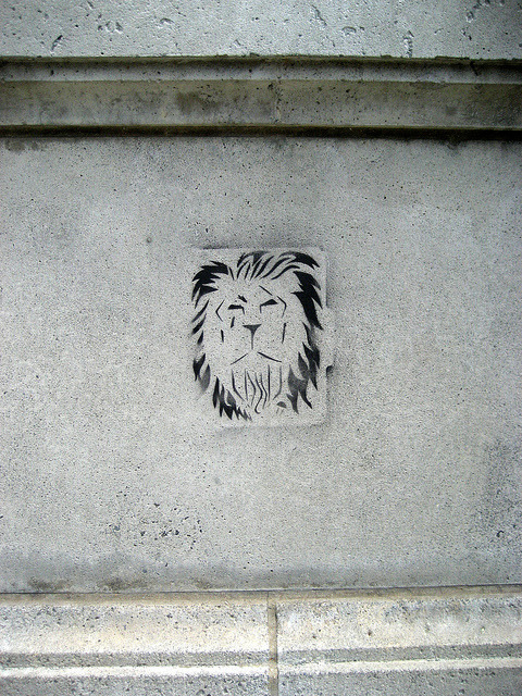 stencil - lion on Flickr.