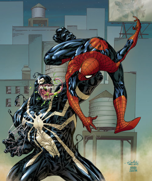 with-greatpower:  SPIDERMAN vs VENOM by *AndreaCelestini