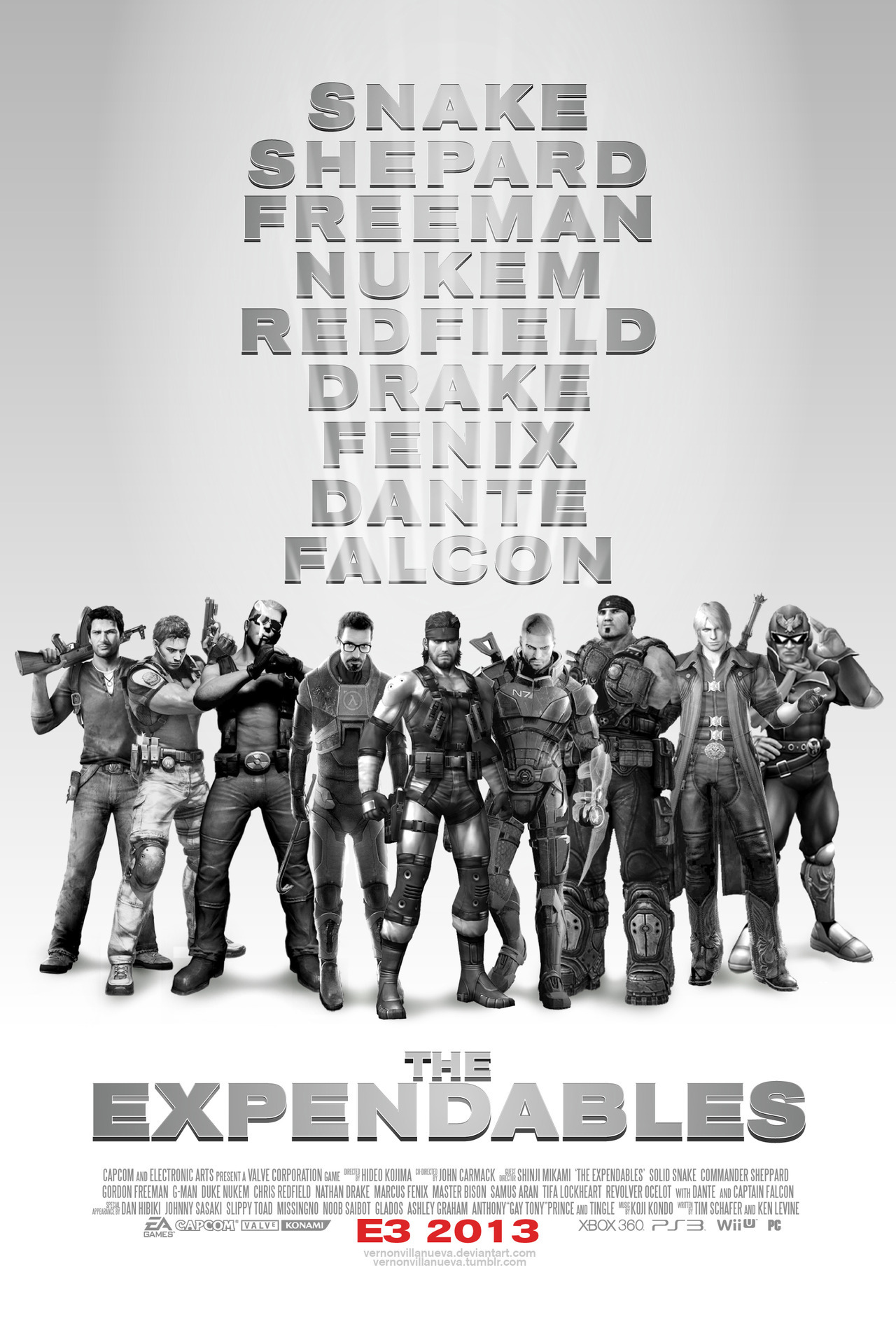 theawkwardgamer:  The Expendables Video Game Edition by Vernon Villanueva