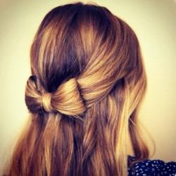pretty hair cute fashion blonde bow girly hairstyle
