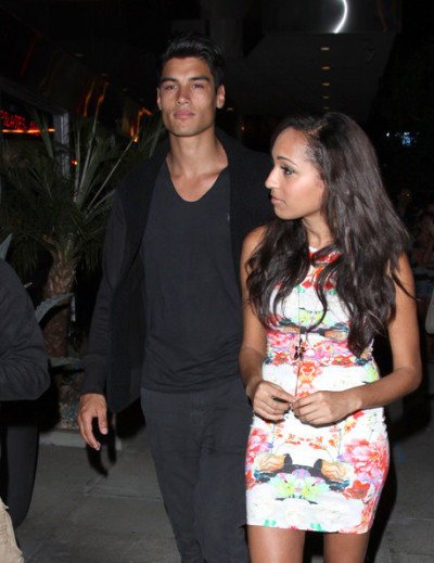 The Wanted's Siva Kaneswaran out in Hollywood last night