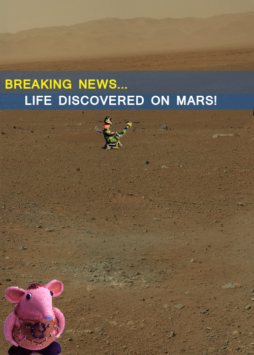 I took a trip to Mars and look, I found Life!!!