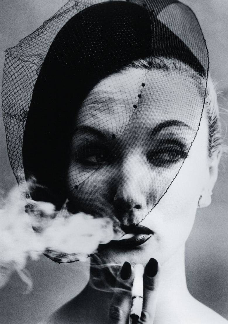 Smoke and Veil (1958) by William Klein