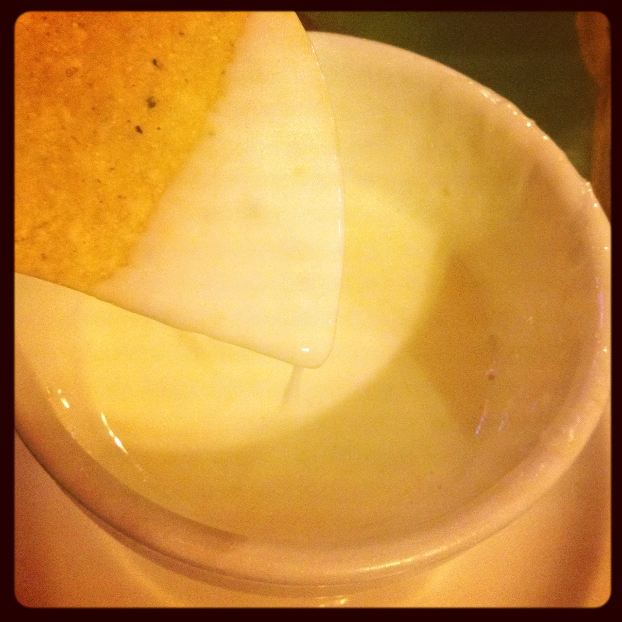 blueandnotblue:  Roadside queso in honor of somebody's impending bday ;)  way to melt my heart Boo.  i love you too.