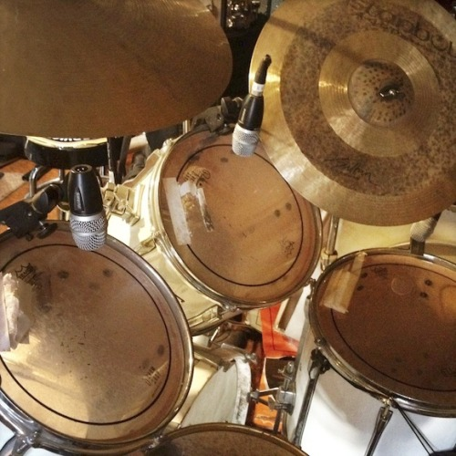 Audio erotica: Legendary drummer James Gadson's drum kit.