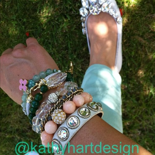 Mixing and matching can make for a fun Arm Party.