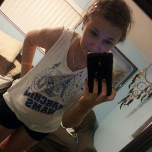 After the potluck dinner & junk. #marching #colorguard #sweaty #gross #tired #me    (Taken with Instagram)