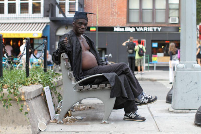 humansofnewyork:  Something tells me this man graduates every single day.