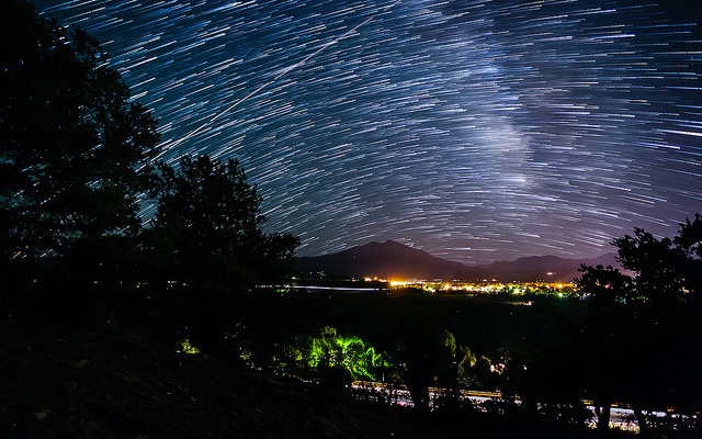 Star Trailing Over Mount Sopris in Carbondale, CO on Flickr.Via Flickr: I have been playing around more in After Effects lately. I am finally started my process of compiling around 1TB of timelapses and bike footage, filmed over the past 2 years. Here is a one of my favorite frames so far.  This image consists of over 500 shots blended in After Effects.  Canon 5D MK III Canon 17-40mm f/4 L 20 Seconds per shot f/4 ISO 12,800 Prints - smu.gs/OZn62s [Website] [facebook] [Google+] [Tumblr] [Twitter]*All Rights reserved - Please do not use my images on blogs, personal or professional websites, or any other digital media without my consent. Thank you.