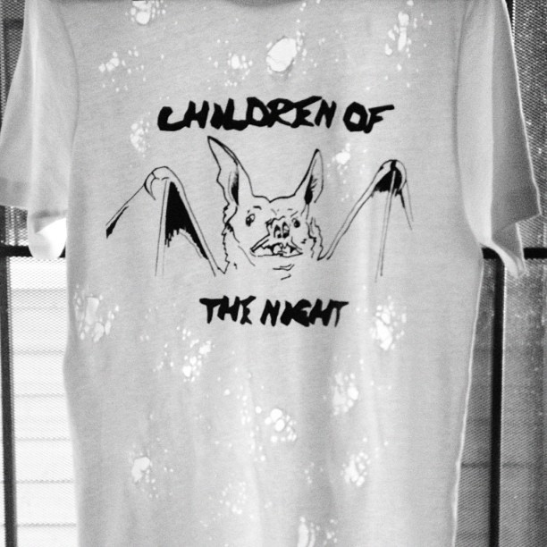vowblog:  Limited Edition Only 6 made! BLAVK ON WHITE// CHILDREN OF THE NIGHT destroyed tee // Available AUG. 25 @ Space 15TWENTY X Yeah Gurl Backlot Block Party in Hollywerid ONLY!