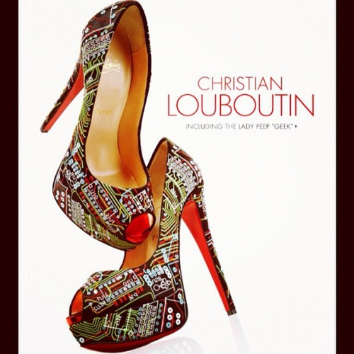 nadiathinks:  Hello lovelies! Even @louboutinworld loves technology! (Taken with Instagram)  Ok Louboutin, just when I thought I could quit you…Love, Frannie