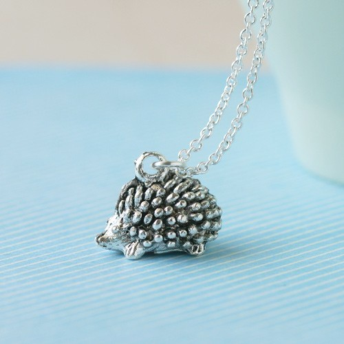 Teeny Tiny Hedgehog Necklace <3
