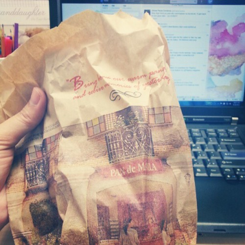 Pandesal is making me so happy ♡ #atwork #food  (Taken with Instagram)