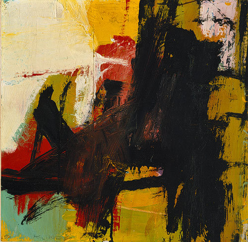 theeverydayartist:  Franz Kline, Black Reflections, 1959.