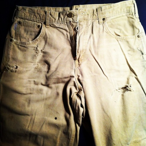 brybryyy:  3 years of work. A actual American made pair of Carhartt pants. #carhartt #bringitbacktoamerica (Taken with Instagram at Mi Casa)