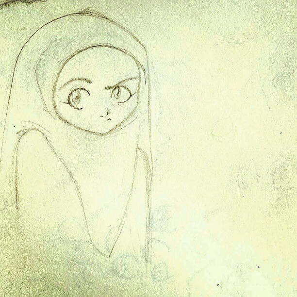 #ninjabi #sketch #noor #character #drawing #illustration #design #original #pencil #oldschool (Taken with Instagram)