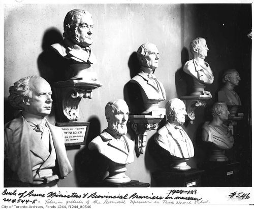 Busts of Prime Ministers and Provincial Premiers, Provincial Museum, Normal School, 1911