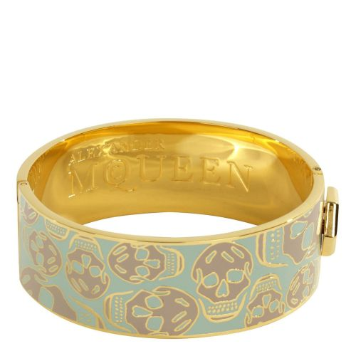 neverbreakthechain:  ALEXANDER MCQUEEN / Mint Enamel Snap Bangle