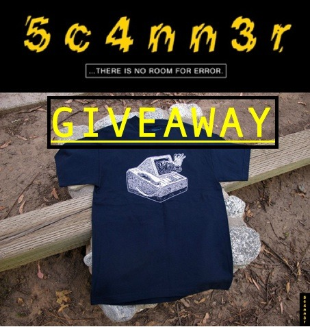 5c4nn3r T-Shirt & Sticker Giveaway!!! DETAILS: Follow & Reblog. Already following? No problem, just reblog!  Number of reblogs = Number of entries. There will be First, Second, & Third place winners. (Winners will be picked by a random generator) Keep your Ask box open. We'll contact you through there.  ENDS AUGUST 31st. If you have any questions, feel free to ask! :)  *Please note: the shirt in the picture is NOT the shirt that will be sent out.