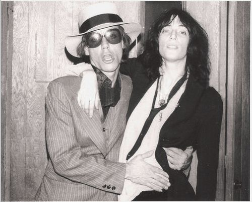 Iggy Pop and Patti Smith photographed by Jim Cassatta.
