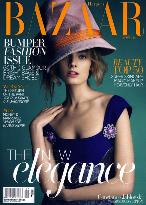 Constance Jablonksi by Victor Demarchelier for Harper's Bazaar Australia September 2012
