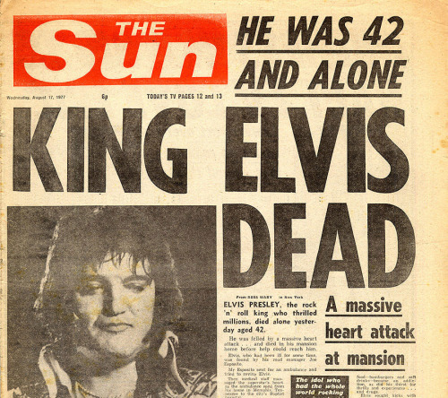 Elvis is Dead - 35 years today.