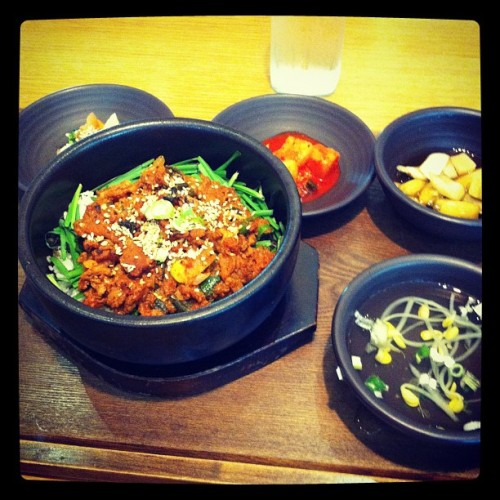My #korean #breakfast / #lunch. #SouthKorea #Seoul #Shinchon (Taken with Instagram)