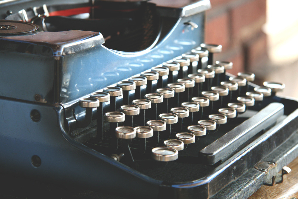 "typewriterstho:  Antique 1930s Typewriter - Royal Portable ""P"" Duotone (by Nerd Nest)"