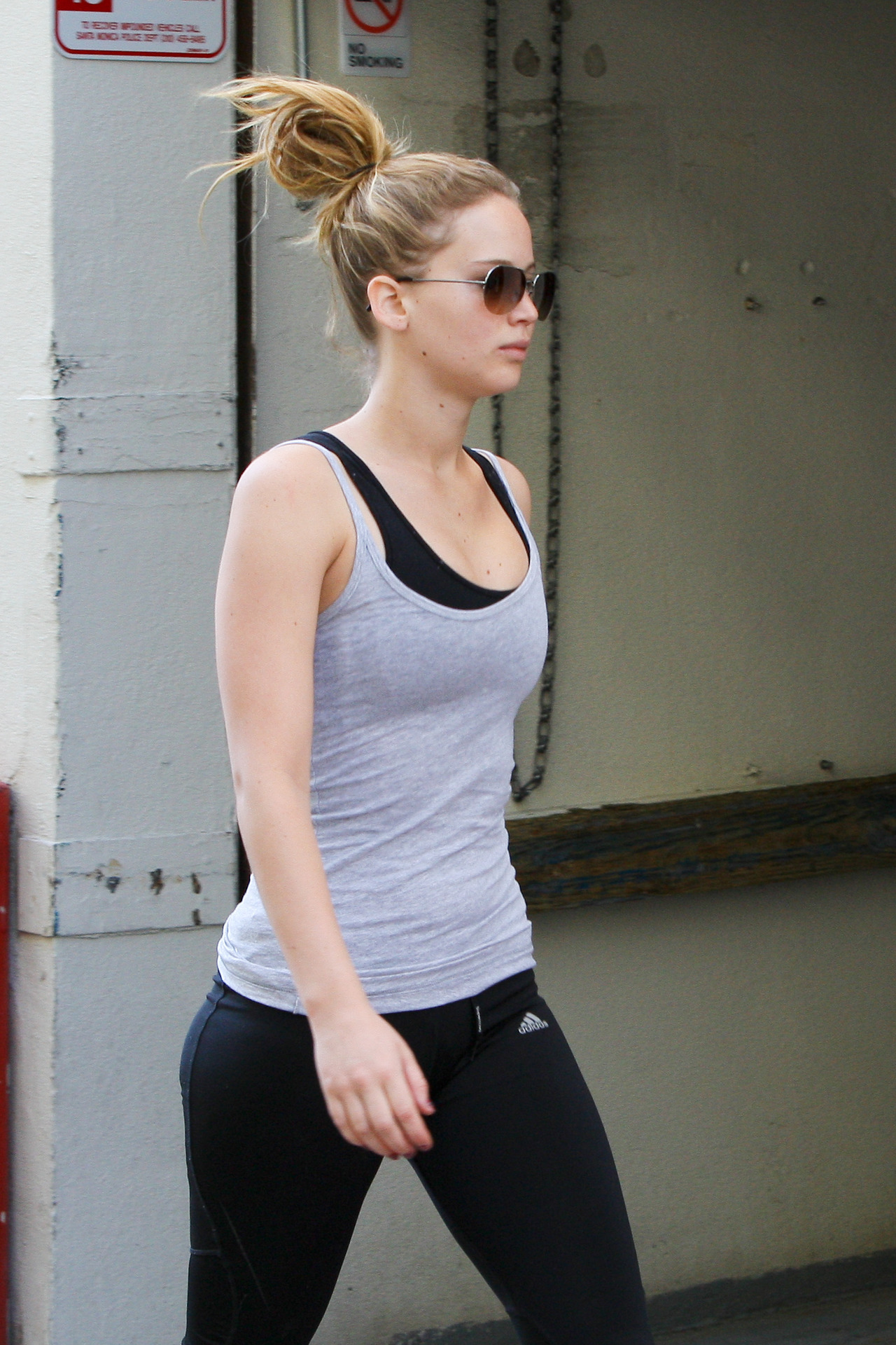 suicideblonde:  Jennifer Lawrence leaving the gym in Santa Monica, August 14th  from suicideblonde to The StyleDigr