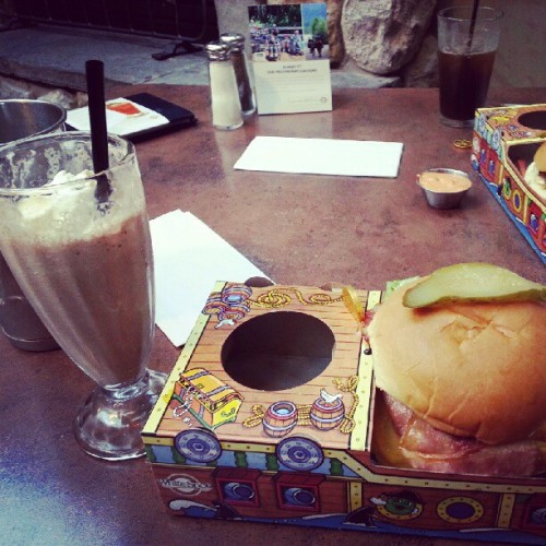 the #classic #milkshake and #burger meal I have always wanted.. oh, also I'm a #pirate.   (Taken with Instagram)