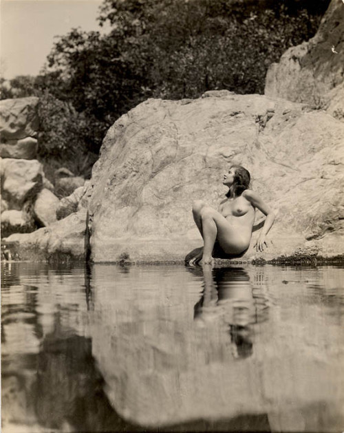 hollyhocksandtulips:  Photo by Edwin Bower Hesser, 1920s