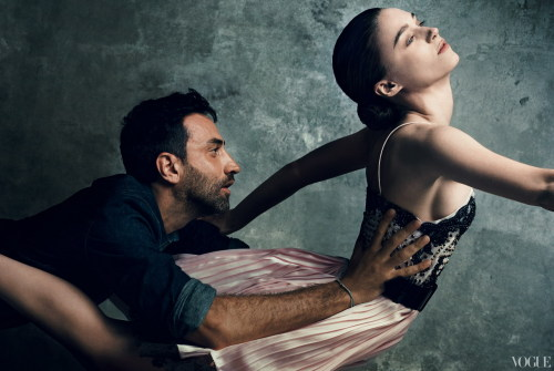 Riccardo Tisci and Rooney Mara, photographed for Vogue by Norman Jean Roy.