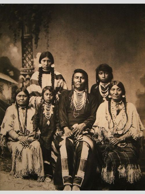 collective-history:  Chief Joseph and his family. Photo taken in 1880, just a few years after the Nez Perce war