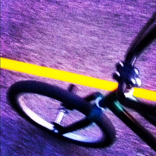 Ride Or Die? No. Ride or Wipeout! #bike #ride #yellow #line #bmx #fun #live #love #laugh #vroom #wipeout #fun (Taken with Instagram)