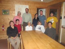 Here's our group, back at Float Camp, after our last dinner together. We so enjoyed our conversations.