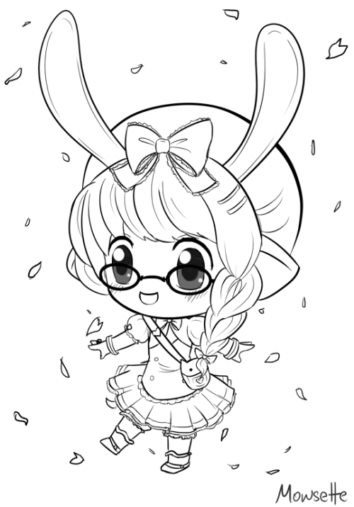 Another chibi commission. Trying to get back to the style I used to draw chibis in. 8I