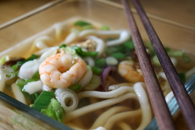 udon soup by denkschema on Flickr.