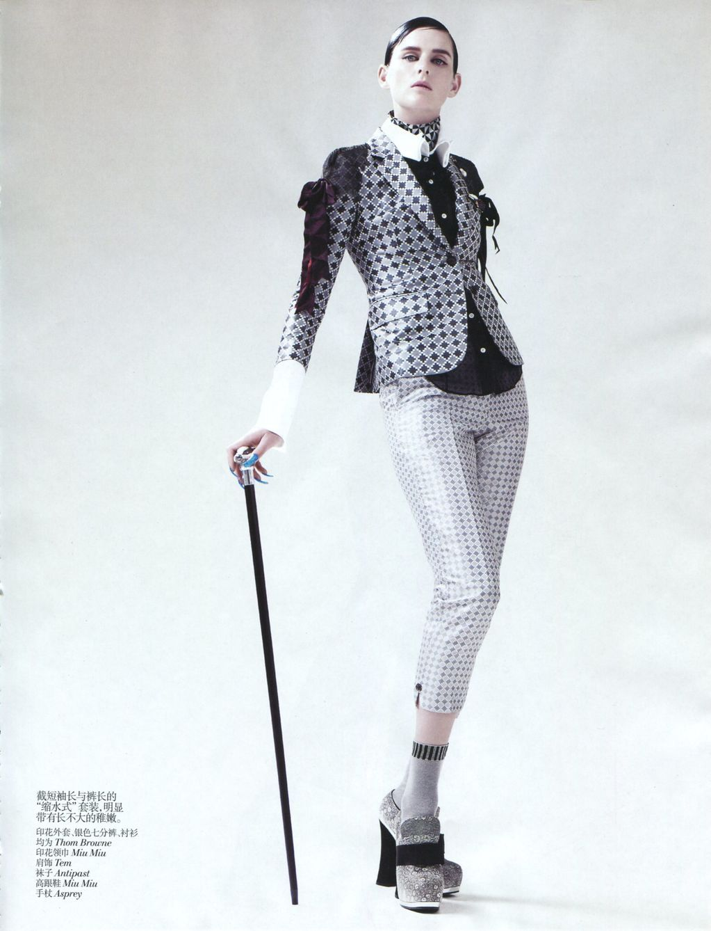 Vogue China September 2012, New Dandy Stella Tennant by Willy Vanderperre
