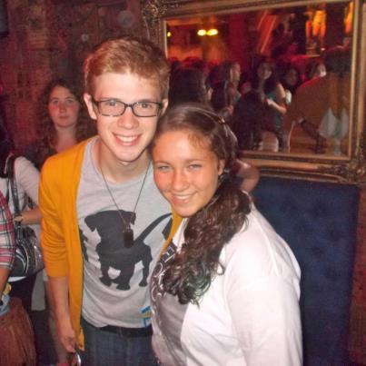 lyricsandlaughter:  Me and Sam from tonight at the NYC show aw I miss him already fakfgsfsdugy sorry for my face being stupid but SAM