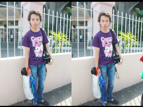 Me Wearing our CS Division Shirt!  Ayos ba? :D