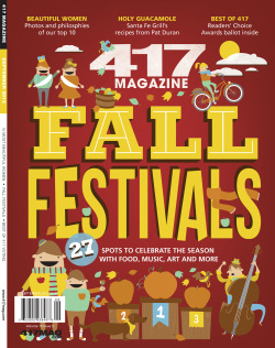 Cover for the Fall Festivals September issue of 417 Magazine.