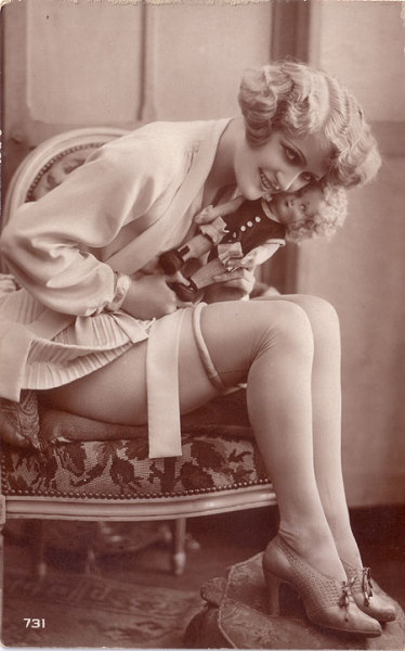 What a Doll! 1920s vintage risque postcard