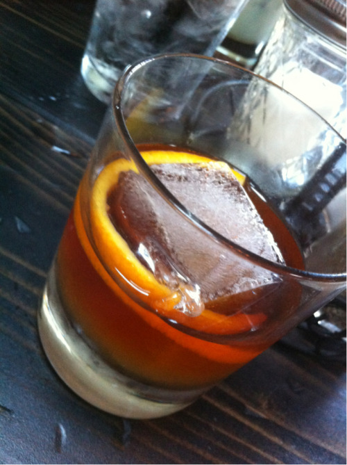 An amazing Old Fashioned at the new Pour House in Sacramento.