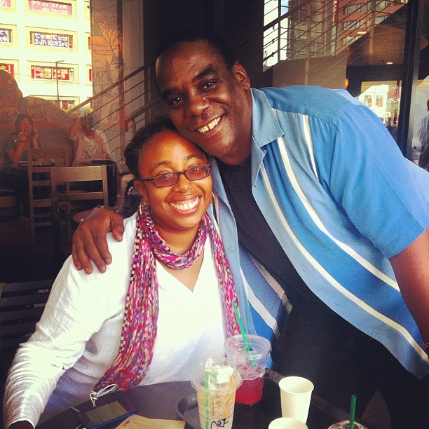 At Starbucks in Yokohama with my homie Raashida @raa_digga (Taken with Instagram at Starbucks Coffee 横浜西口店)