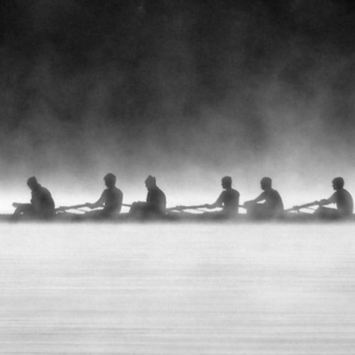 """Rowing on a Misty Morning"" by Adam Spence Available as a card or print"
