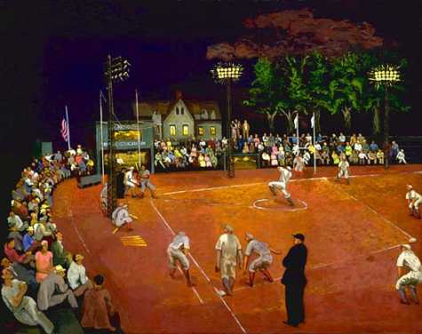 Morris Kantor, Baseball at Night, 1934 on Flickr.